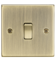 ML ACCESSORIES 20A 1G Dp Switch - Square Edge Antique Brass