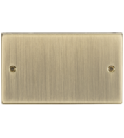 ML ACCESSORIES 2G Blanking Plate - Square Edge Antique Brass