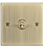 ML ACCESSORIES 10A 1G Intermediate Toggle Switch - Square Edge Antique Brass