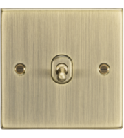 ML ACCESSORIES 10A 1G 2 Way Toggle Switch - Square Edge Antique Brass