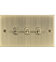 ML ACCESSORIES 10A 3G 2 Way Toggle Switch - Square Edge Antique Brass