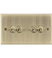 ML ACCESSORIES 10A 4G 2 Way Toggle Switch - Square Edge Antique Brass