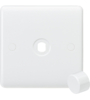 ML ACCESSORIES Curved Edge 1G Dimmer Plate With Matching Dimmer Cap