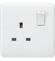 ML ACCESSORIES Curved Edge 13A 1G Dp Switched Socket