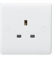 ML ACCESSORIES Curved Edge 13A 1G Unswitched Socket