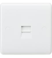 Knightsbridge Curved Edge Telephone Extension Socket (White)