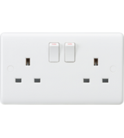ML ACCESSORIES Curved Edge 13A 2G Dp Switched Socket