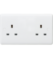 ML ACCESSORIES Curved Edge 13A 2G Unswitched Socket