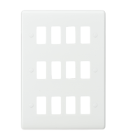 ML ACCESSORIES Curved Edge 12G Grid Faceplate (White)