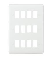 Knightsbridge Curved edge 12G grid faceplate (White)