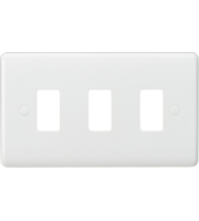Knightsbridge Curved edge 3G grid faceplate (White)