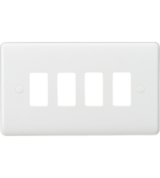 Knightsbridge Curved edge 4G grid faceplate (White)