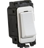 Knightsbridge 20AX 1-way SP switch module (White)