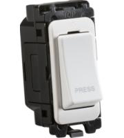 Knightsbridge 20AX 2-way retractive switch module  (printed PRESS) (White)