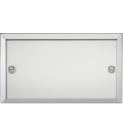 ML ACCESSORIES 2G Blanking Plate - Bevelled Edge Polished Chrome