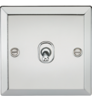 ML ACCESSORIES 10A 1G 2 Way Toggle Switch - Bevelled Edge Polished Chrome