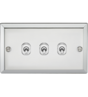 ML ACCESSORIES 10A 3G 2 Way Toggle Switch - Bevelled Edge Polished Chrome