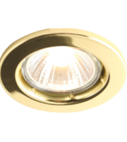 Knightsbridge 50W  (Brass) Recessed Fixed Downlight (Brass)