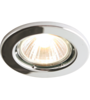 ML ACCESSORIES IP20 50W GU10 Chrome Recessed Fixed Downlight