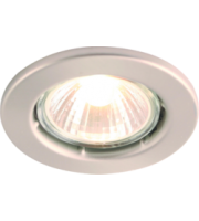 ML ACCESSORIES IP20 50W GU10 Brushed Chrome Recessed Fixed Downlight