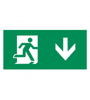 ML Accessories Running Man Legend with Down Facing Arrow For Emexit /Emlrec/Emlsus (Green)
