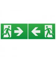 ML Accessories Running Man Legend with Left/Right Facing Arrow For Emexit /Emlrec/Emlsus (Green)