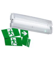 Knightsbridge 3W LED Emergency Bulkhead  Maintained/NonMaintained (White)