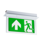 ML Accessories 230V 2W Recessed LED Maintained  Emergency Exit Sign (White)