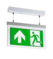 Knightsbridge  2W LED Suspended Double-Sided Emergency Exit Sign (White)