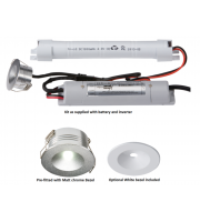 ML ACCESSORIES 230V IP20 3W LED Emergency Downlight Non-maintained (White)