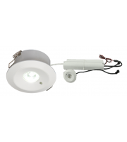 ML Accessories 230V IP20 3W 3000K LED Emergency Downlight Maintained/Non-maintained (White)