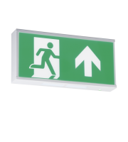 ML ACCESSORIES 230V IP20 Wall Mounted LED Emergency Exit Sign Maintained/Non-maintained (White)