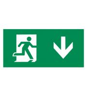 Knightsbridge Running Man Legend with Down Facing Arrow for EMRUN
