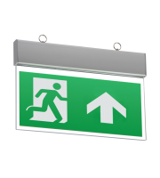 ML Accessories IP20 Ceiling Mounted LED Emergency Exit Sign Maintained/Non-maintained (Aluminium)