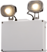 ML Accessories IP65 2x3W LED Emergency Twin Spot Non Maintained (White)