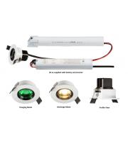 ML Accessories 230V IP20 5W LED Emergency Downlight 6000K  (White)