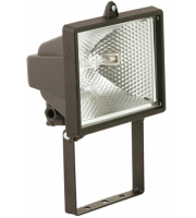 ML Accessories IP54 500W Enclosed Halogen Floodlight (Black)