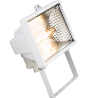 ML Accessories IP54 500W Enclosed Halogen Floodlight (White)