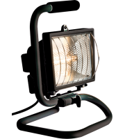 ML Accessories IP54 500W Portable Halogen Enclosed Floodlight (Black)