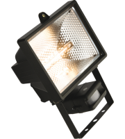 ML Accessories IP44 500W Halogen Enclosed Floodlight with PIR (Black)