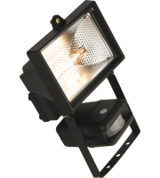 ML Accessories IP44 150W Halogen Enclosed Floodlight with PIR (Black)