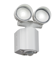 ML Accessories 230V IP44 2x8W LED Twin Spot Security Light with PIR (White)