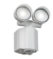 Knightsbridge 2x8W LED Twin Spot Security Light with PIR (White)