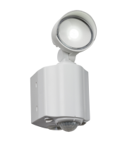 ML Accessories 230V IP44 8W LED Single Spot Security Light With PIR (White)