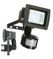 ML Accessories 230V IP44 15W 6000K LED Floodlight With PIR (Black)