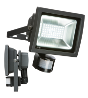 ML Accessories 230V IP44 30W LED Floodlight With PIR (Black)
