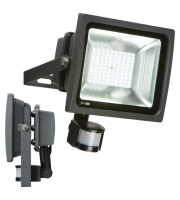 ML Accessories 230V IP44 50W LED Floodlight With PIR (Black)