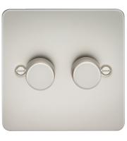 ML Accessories Flat Plate 2G 2 Way 40-400W Dimmer (Pearl)