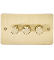 ML Accessories Flat Plate 3G 2 Way 40-400W Dimmer (Brushed Brass)