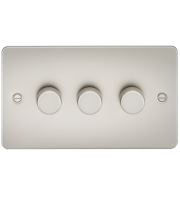 ML Accessories Flat Plate 3G 2 Way 40-400W Dimmer (Pearl)